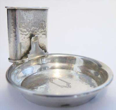 Sterling Silver Hammered Dinner Ashtray /Smoking Set by Webster (9 For Sale!)