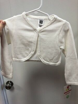 NWT, BRAND NEW, Little Girls, Carters Cardigan, Size 18m