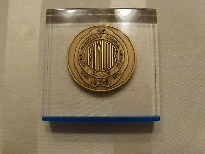 Baylor University Medical Center Dallas 75 Years Service 1903-1978 Paperweight