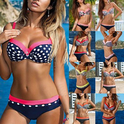 Women Padded Push-up Bra Bikini Set Swimsuit Swimwear Beachwear Bathing Suit