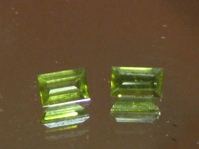 PERIDOT gemstones, BAGUETTE CUT NATURAL AUSTRALIAN PERIDOTS, AUGUST BIRTHSTONE