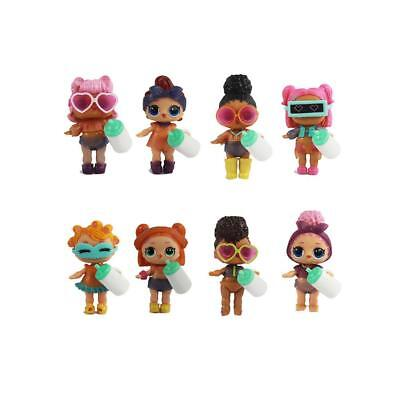 8 Different kinds of LOL SURPRISE DOLL Lil Sisters Cute Baby 8pcs Set 8cm Gift