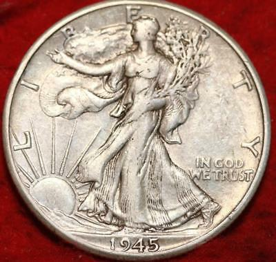 1945-D Denver Mint Silver Walking Liberty Half