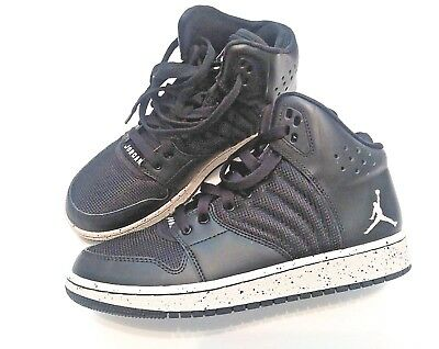 more photos f6f26 fc9b1 NIKE JORDAN 1 Flight 4 BG Black Kids Pure Platinum Boys Shoes 828237-020  Size 6Y