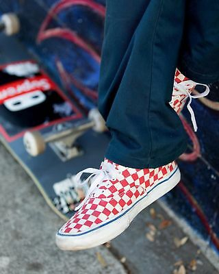 0be169665a8 VANS ERA PRO CHECKERBOARD SKATE SHOES MEN S size 8.5 Rococo Red   Off-White