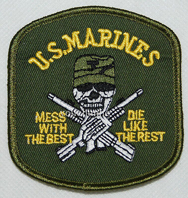 Us Marine Corps Usmc Mess With The Best Die Like The Rest Patch -32273