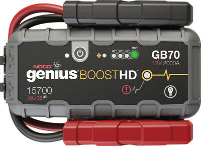 Noco Genius Boost HD 2000 Amp 12V UltraSafe Lithium Jump Starter GB70