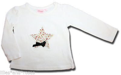Beautiful CHINO Size 3 months Floral STAR Appliqued Long Sleeved T-Shirt TOP