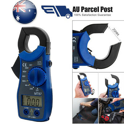 LCD Digital Multimeter Auto Handheld Clamp Meter Volt AC DC 600 Amp Tester Blue