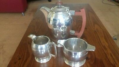 Art Deco Walker & Hall Silver Plated Tea Service set from Sheffield