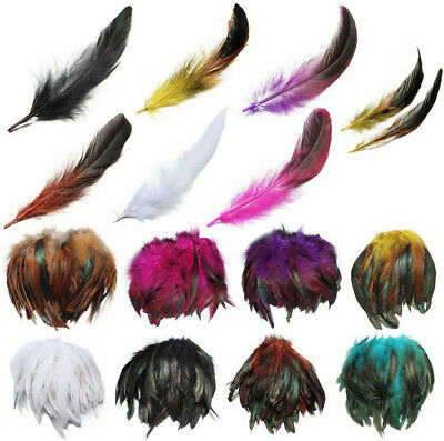 Wholesale 10-500pcs Beautiful Rooster Tail Feathers 10-15cm /4-6inches diy