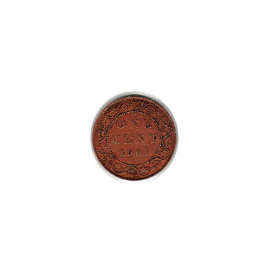 1901 - CANADA (Large Copper) ONE CENT coin (circulated)