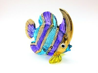 Sea Fish Ocean Hand Blown Blowing Glass Art Animal Fancy Collectible gift