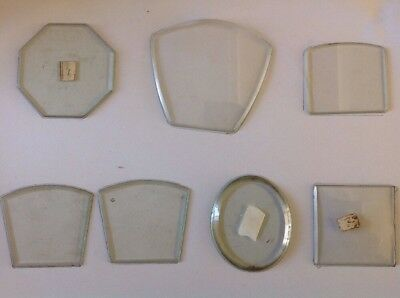 Clock Glass Flat & Convex Arched Octagonal Fancy Shapes Clockmakers Spare Parts