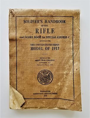 1918 antique WWI SOLDIER'S HANDBOOK RIFLE MODEL of 1917