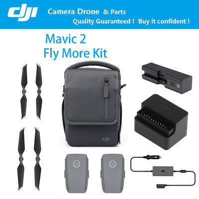 DJI Mavic 2 Fly More Kit Battery Propellers Car Charger Shoulder Parts Accessory