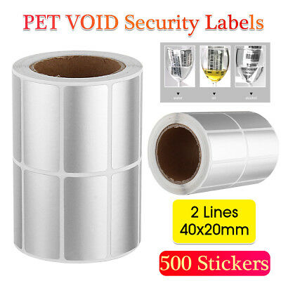 500/Roll Security Seal Tamper Proof Warranty Blank Void Labels Removed Stickers