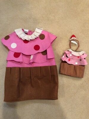 PBK Pottery Barn Kids Halloween Costume/Matching Doll Costume - Cupcake Sz 4/6