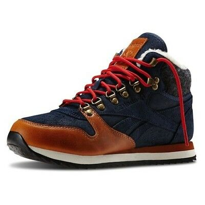 a592c542803ab REEBOK Classic Women s Girl s Leather Mid Trainers Warm Shoes Boots UK 3 4
