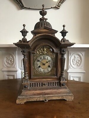 Large Derelict Victorian Bracket Clock. Gothic Style. with German H.A.C Movement