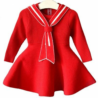 Christmas Costumes Girl Autumn Winter Sweater Dresses Kids Clothing Warm Casual