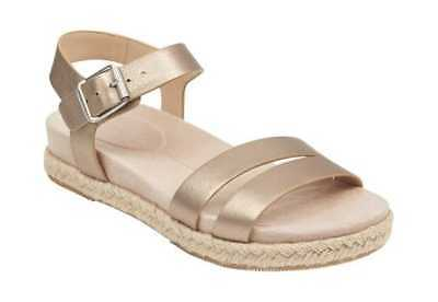 120bf1f4964 Easy Spirit Women s Ixia Ankle Strap Espadrille Bronze Leather Buckle  Fastening