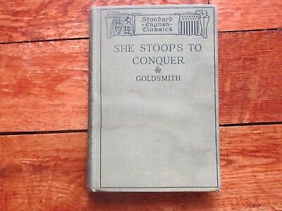 Antique 1917 Book She Stoops To Conquer Oliver Goldsmith Illustrated