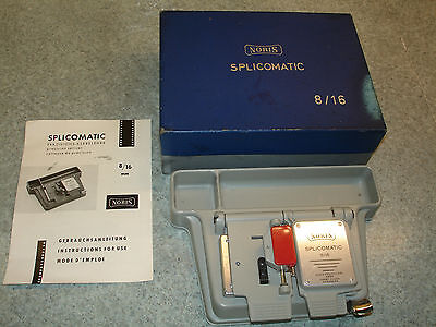 Noris Splicomatic Cine Film Splicer With Original Box & all Documentation