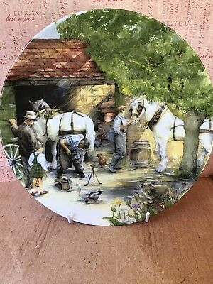 Royal Doulton Old Country Crafts Plate The Blacksmith Designed By Susan Neale