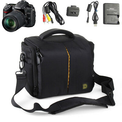 DSLR Digital Camera Camcorder Padded Case Bag fit Canon Nikon EOS Sony Pentax