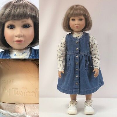 "My Twinn Posable 23"" Collectible Doll 1997 Original Outfit Violet Blue Eyes"