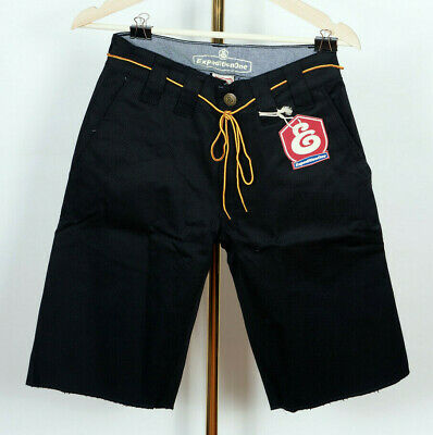 Expedition One Skateboards Chino Short Pants Hose Drifter Black Stretch in 30