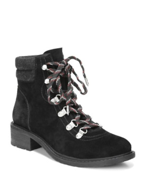 8b2d3ab5bbbf Sam Edelman Darrah Lace Up Hiking Boots size 10 M Women s Black Suede  SN80