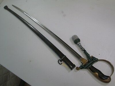 Wwii German Nco Officers Sword With Scabbard & Portapee Eickhorn Maker #z66