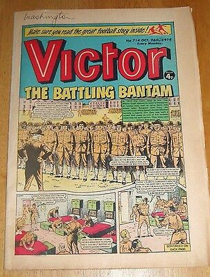 U.s. Marine Corps In France  Ww1 Cover Story  Victor Comic 1974