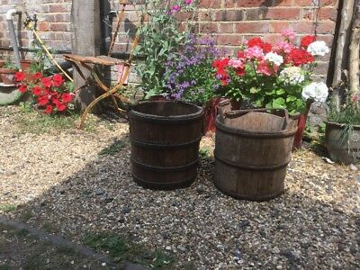 Two Lovely Old Well Buckets
