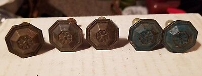 Vintage cast iron cabinet drawer door Furniture knobs handles pull rustic 5pcs