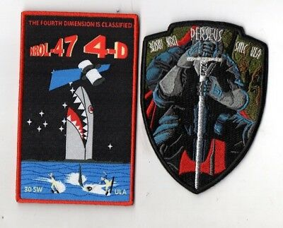 Original USAF NRO VAFB NROL-47 Delta IV Launched Satellite Mission Patch Set-2pc