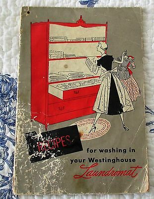 Vintage 1950 Westinghouse L-5 Laundromat Guide, How To Wash, Use. (Flo)