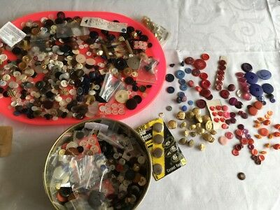 Pretty Tin of Job Lot of Buttons