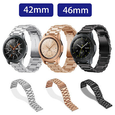 Replacement Stainless Steel Watch Band Strap For Samsung Galaxy Watch 42mm 46mm