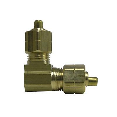 Everbilt Lead-Free Brass Compression 90 Degree Elbow 3/8 in. Brass Fittings