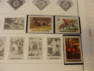 Lot of 16 Rwanda Stamps 1967-1971, expo '70, Pope, Horses, Apes, MNH