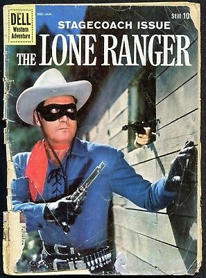 The Lone Ranger #131, Dell 1960 Silver Age Western Comic Stagecoach Issue