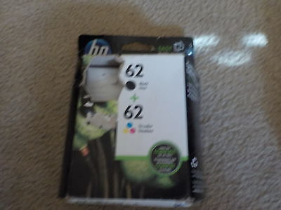 HP 62 black  62 tri-color combo Ink Cartridges N9H64FN Genuine OEM