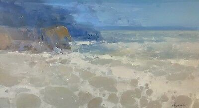 Ocean Side, Seascape Original Oil painting, Large Size painting, One of a kind