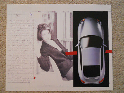 Awesome 1998 Porsche 911 Cabriolet Historical Showroom Advertising Poster RARE!