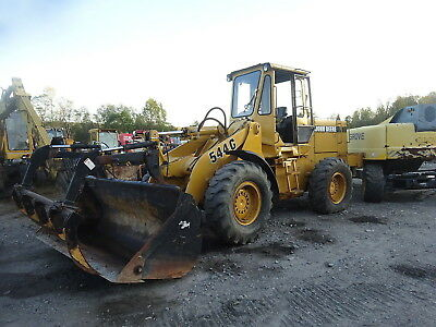 John Deere 544G Wheel Loader RUNS EXC VIDEO! 7K HOURS JRB Q/C GRAPPLE BUCKET 544
