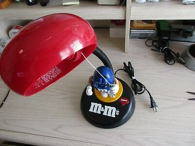 M&M's Talking Desk Lamp Light Highly Collectible WORKS GREAT!