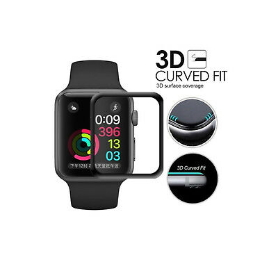 2 Pack Apple Watch SERIES 2/3 42mm Full Edge Tempered Glass Screen Protecto (3D)